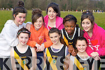 Mercy Mounthawk, Tralee runners keeping fit at the Vocational Schools Cross Country championships in Killarney on Wednesday l-r: Emma Connolly, Katelynn McCarthy, Carla Hannafin. Back row: Ciara Buckley, Zoe O'Carroll, Ciara O'Connor, Olamide Adebayo and Jenny Godley..