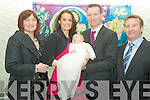 Baby Daniel Cremin, Lissivigeen, Killarney pictured with his parents Leanne and Paul, godparents Mary O'Brien and Robert Cremin at his christening in the Church of the Resurrection, Park Road, Killarney.