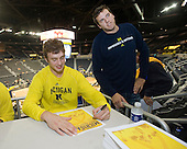 The University of Michigan men's basketball team signed autographs at the Crisler Arena Open House on Friday, September 23, 2011, in Ann Arbor, Mich.