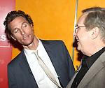 Matthew McConaughey & William Friekin backstage at 'TimesTalks: Stage To Screen' with David CarrNew York City on 7/24/2012.