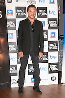 """Enrique Arce attends the """"DIOSES Y PERROS """" Movie presentation at Kinepolis Cinema in Madrid, Spain. October 6, 2014. (ALTERPHOTOS/Carlos Dafonte) /nortephoto.com"""