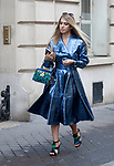 Street Style during Paris Fashion Week Spring Summer 2018 on Saturday 30th September 2017.(Photo by JSTREETSTYLE/AFLO)(Photo by JSTREETSTYLE/AFLO)