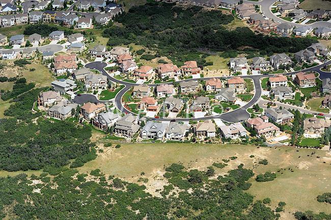 Aerial Denver, Colorado. Castle Pines