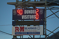 8th February 2020; Dens Park, Dundee, Scotland; Scottish Championship Football, Dundee versus Partick Thistle; Final score on the scoreboard