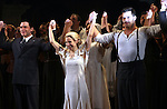 Michael Cerveris, Elena Roger, Ricky Martin with the Company.during the Broadway Opening Night Performance Curtain Call for 'EVITA' at the Marquis Theatre in New York City on 4/5/2012