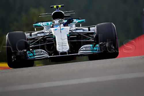 26th August 2017, Circuit de Spa-Francorchamps, Belgium; Belgium Grand Prix, Qualifying Session; Valtteri BOTTAS from Finland of Mercedes-AMG-Petronas Formula One  Team, Mercedes F1 M08 Hybrid, EQ Power+ entering to the pit lane