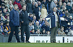 Arsenal manager Arsene Wenger with Blackburn manager Graeme Souness - Blackburn Rovers v Arsenal - Premier League - Ewood Park Stadium - Blackburn - 15th March 2003 - Pics Simon Bellis