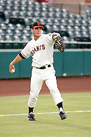 Gary Brown - AZL Giants - Brown, the Giants 1st round draft choice, was playing in his second professional game against the AZL Athletics at Scottsdale Stadium, Scottsdale, AZ - 08/24/2010.Photo by:  Bill Mitchell/Four Seam Images..