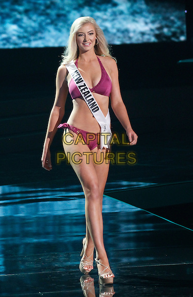 16 December 2015 - Las Vegas, Nevada - Miss New Zealand, Samantha Sarah Lesley McClung. 2015 Miss Universe Preliminary Competition at Axis at Planet Hollywood Resort and Casino. <br /> CAP/ADM/MJT<br /> &copy; MJT/AdMedia/Capital Pictures