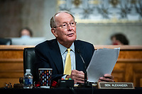 United States Senator Lamar Alexander (Republican of Tennessee), chairman, US Senate Health, Education, Labor and Pensions Committee, speaks during a hearing in Washington, D.C., U.S., on Tuesday, June 30, 2020. Top federal health officials are expected to discuss efforts to get back to work and school during the coronavirus pandemic. <br /> Credit: Al Drago / Pool via CNP /MediaPunch