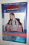 Theatre Marquee Poster at the Opening Night Performance of Perez Hilton in 'NEWSical The Musical' at the Kirk Theatre  in New York City on September 17, 2012.