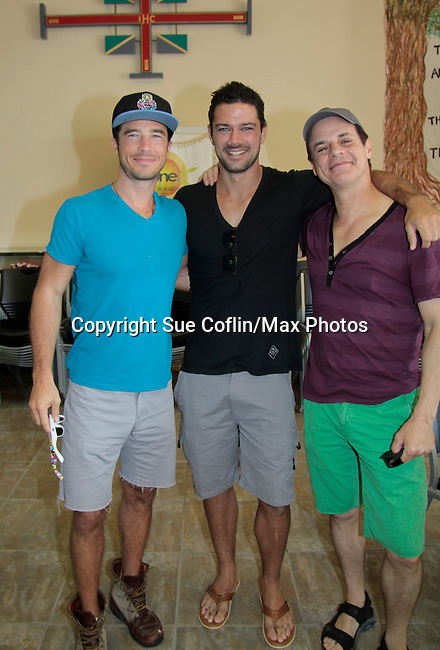 Ryan Carnes -  Ryan Paevey - Christian LeBlanc - A Painting Party where actors and children and adults do paintings to be auctioned off at the Night of Stars and on the Marco Island Princess- Actors from Y&R, General Hospital and Days donated their time to Southwest Florida 16th Annual SOAPFEST - a celebrity weekend May 22 thru May 25, 2015 benefitting the Arts for Kids and children with special needs and ITC - Island Theatre Co. on May 23 , 2015 on Marco Island, Florida. (Photos by Sue Coflin/Max Photos)