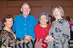 DANCING: Dancing at the Rose of Tralee Back to Basic Tea Dance in The KDYS Denny Street, Tra;lee on Sunday l-R; Ena and Johnny O'Shea, Ella McCarthy and Kate Griffin (Tralee).................. ..........