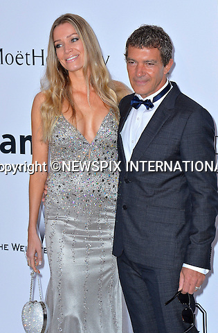 12.05.2015, Antibes; France: ANTONIO BANDERAS AND NICOLE KIMPEL<br /> attends the Cinema Against AIDS amfAR gala 2015 held at the Hotel du Cap, Eden Roc in Cap d'Antibes.<br /> MANDATORY PHOTO CREDIT: &copy;Thibault Daliphard/NEWSPIX INTERNATIONAL<br /> <br /> (Failure to credit will incur a surcharge of 100% of reproduction fees)<br /> <br /> **ALL FEES PAYABLE TO: &quot;NEWSPIX  INTERNATIONAL&quot;**<br /> <br /> Newspix International, 31 Chinnery Hill, Bishop's Stortford, ENGLAND CM23 3PS<br /> Tel:+441279 324672<br /> Fax: +441279656877<br /> Mobile:  07775681153<br /> e-mail: info@newspixinternational.co.uk