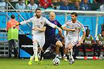 (L to R) <br /> Sergio Ramos (ESP), <br /> Arjen Robben (NED), <br /> Xabi Alonso (ESP), <br /> JUNE 13, 2014 - Football /Soccer : <br /> 2014 FIFA World Cup Brazil <br /> Group Match -Group B- <br /> between Spain 1-5 Netherlands <br /> at Arena Fonte Nova, Salvador, Brazil. <br /> (Photo by YUTAKA/AFLO SPORT) [1040]