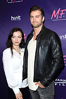 LOS ANGELES - OCT 2: Francesca Eastwood, Pierson Fode at the premiere of Dark Sky Films' 'M.F.A.' at The London West Hollywood on October 2, 2017 in West Hollywood, California