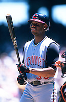 SAN FRANCISCO, CA - Ken Griffey Jr. of the Cincinnati Reds bats during a game against the San Francisco Giants at Pacific Bell Park in San Francisco, California in 2000. Photo by Brad Mangin