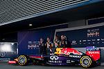JEREZ. SPAIN. FORMULA 1<br />2013/14 en el Circuito de Jerez 28/101/2014 La imagen muestra a Sebastian Vettel y Daniel Ricciardo durante la presentación del nuevo coche  Infiniti-Redbull Racing   LP / Photocall3000