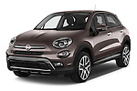 2017 Fiat 500X Trekking 5 Door SUV Angular Front stock photos of front three quarter view