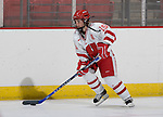 MADISON, WI - SEPTEMBER 29: Sara Bauer #15 of the Wisconsin Badgers women's hockey team skates during warmups prior to the game against the Quinnipiac Bobcats at the Kohl Center on September 29, 2006 in Madison, Wisconsin. The Badgers beat the Bobcats 3-0. (Photo by David Stluka)