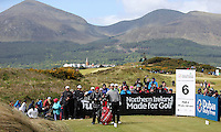 Sunday 31st May 2015; Padraig Harrington, Ireland, reaches for his driver on the 6th tee box<br /> <br /> Dubai Duty Free Irish Open Golf Championship 2015, Round 4 County Down Golf Club, Co. Down. Picture credit: John Dickson / DICKSONDIGITAL
