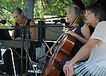 Selma Kaplan, Abby Newton and Lyn Hardy, performing as the SKYE trio, on the Toshi Seeger Stage on Hoot Hill, on third-and-final day of the 4th Annual Summer Hoot Festival, held at the Ashokan Center in Olivebridge, NY, on Sunday, August 28, 2016. Photo by Jim Peppler; Copyright Jim Peppler 2016.