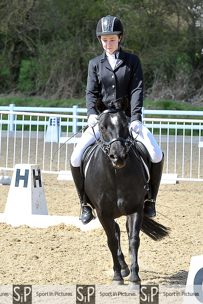 Class 4. Prelim 12. Brook Farm Summer Championships Qualifier,  Brook Farm points league and Trailblazers 1st round dressage. Brook Farm Training Centre. Essex. 11/04/2015. MANDATORY Credit Ellie Ingram/Sportinpictures - NO UNAUTHORISED USE - 07837 394578