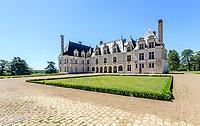 France, Loir-et-Cher (41), Cellettes, Château de Beauregard, façade nord-est
