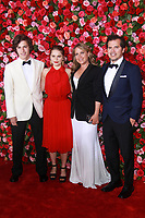 NEW YORK, NY - JUNE 10:  Lucas Leguizamo, Allegra Leguizamo, Justine Maurer, and John Leguizamo  at the 72nd Annual Tony Awards at Radio City Music Hall in New York City on June 10, 2018.