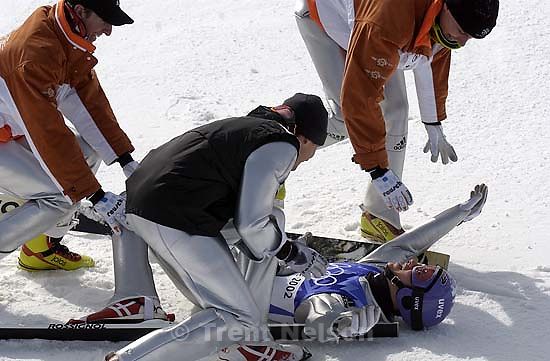 Men's Ski Jumping K120 Team competition Monday morning at the Utah Olympic Park, 2002 Olympic Winter Games.; 02.18.2002, 11:31:29 AM<br />