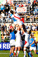 Photo: Omega/Richard Lane Photography. Italy v England. RBBS Six Nations. 10/02/2008. England's Nick Easter contests a lineout.