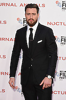 LONDON, UK. October 14, 2016: Aaron Taylor-Johnson at the London Film Festival 2016 premiere of &quot;Nocturnal Animals&quot; at the Odeon Leicester Square, London.<br /> Picture: Steve Vas/Featureflash/SilverHub 0208 004 5359/ 07711 972644 Editors@silverhubmedia.com