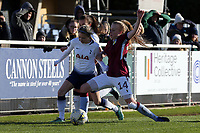 Sarah Wiltshire of Tottenham Ladies and Hollie Gibson of Aston Villa Ladies during Tottenham Hotspur Ladies vs Aston Villa Ladies, FA Women's Championship Football at Theobalds Lane on 28th October 2018