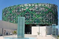 Exterior of the new Gran Museo del Mundo Maya museum in Merida, Yucatan, Mexico      .