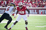 Wisconsin Badgers defensive back Dontye Carriere-Williams (29) during an NCAA Big Ten Conference football game against the Maryland Terrapins Saturday, October 21, 2017, in Madison, Wis. The Badgers won 38-13. (Photo by David Stluka)