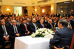 Egyptian President Mohamed Morsi  meeting with the Egyptian community in Saudi Arabia at the Egyptian consulate in Jeddah, Saudi Arabia, 12 July 2012. Egyptian President Morsi arrived 11 July in Saudi Arabia on his first foreign trip in office, leaving behind a simmering dispute with the country's top court over his attempt to reinstate the dissolved parliament. Photo by Egyptian Presidency