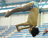 Cameron Yuen of Garden City competes in the NYSPHSAA varsity boys diving Federation Championship at Nassau Aquatic Center in East Meadow on Friday, March 2, 2018.