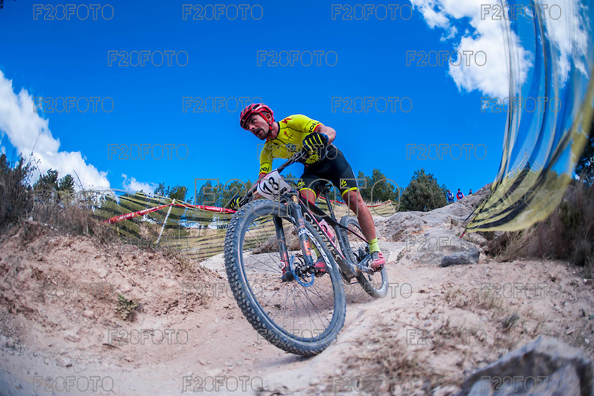 Chelva, SPAIN - MARCH 6: Ismael Sanchez during Spanish Open BTT XCO on March 6, 2016 in Chelva, Spain
