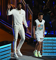 SANTA MONICA, CA - JULY 11: Anthony Davis and Cy Arato-Orlovski on the Nickelodeon Kids' Choice Sports 2019 at the Barker Hangar on July 11, 2019 in Santa Monica, California. (Photo by Frank Micelotta/PictureGroup)