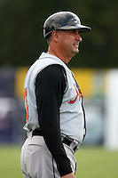 July 14th 2008:  Manager Gary Kendall of the Aberdeen Ironbirds, Class-A affiliate of the Baltimore Orioles, during a game at Dwyer Stadium in Batavia, NY.  Photo by:  Mike Janes/Four Seam Images