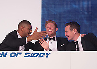 Picture by Allan McKenzie/SWpix.com - 05/10/17 - Cricket - Yorkshire County Cricket Club Gala Dinner 2017 - Elland Road, Leeds, England - A Question of Siddy, Leon Pryce, Jonny Bairstow & Alistair Brownlee.