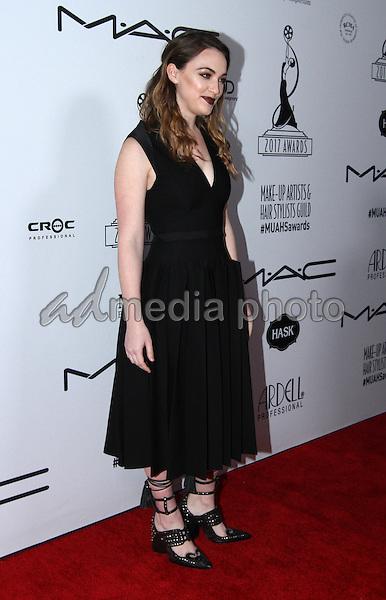 19 February 2017 - Los Angeles, California - Violett Beane<br /> <br /> .2017 Make-Up Artist &amp; Hair Stylists Guild (MUAHS) Awards held at The Novo. Photo Credit: AdMedia
