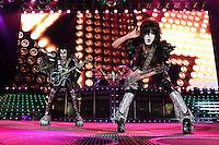ALBUQUERQUE NM - AUGUST 7:  Gene Simmons and Paul Stanley of Kiss performs at the Hard Rock Casino Albuquerque on August 7, 2012 in Albuquerque, New Mexico. /NortePhoto.com<br /> <br />  **CREDITO*OBLIGATORIO** *No*Venta*A*Terceros*<br /> *No*Sale*So*third* ***No*Se*Permite*Hacer Archivo***No*Sale*So*third*