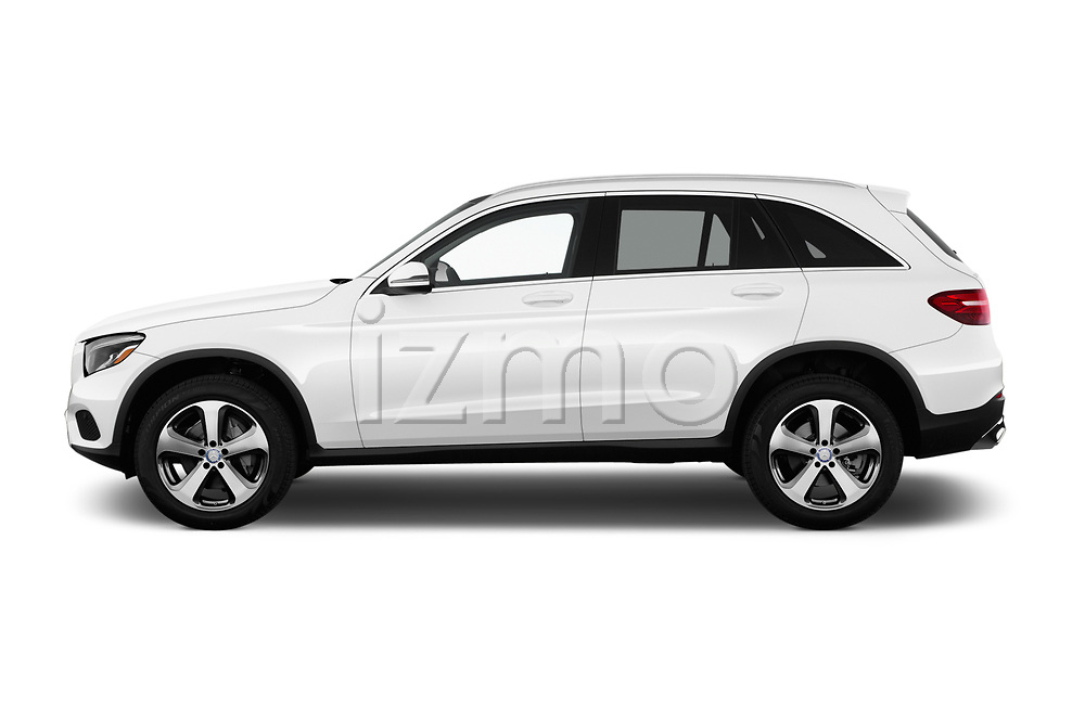 Car driver side profile view of a 2018 Mercedes Benz GLC-Class 300 5 Door SUV