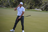 Jason Day (AUS) reacts to barely missing his putt on 2 during day 2 of the World Golf Championships, Dell Match Play, Austin Country Club, Austin, Texas. 3/22/2018.<br /> Picture: Golffile | Ken Murray<br /> <br /> <br /> All photo usage must carry mandatory copyright credit (&copy; Golffile | Ken Murray)