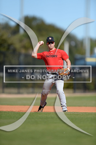 Brad Ellis (28) of Brooksville, Florida participates in the Baseball Factory All-America Pre-Season Rookie Tournament, powered by Under Armour, at Lake Myrtle Sports Complex on January 18, 2014 in Auburndale, Florida.  (Copyright Mike Janes Photography)