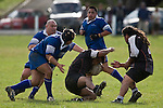 Charlie Malcom & Jarran Preston scragg George Ewe to ground as Korg Kukutai arrives to lend support. CMRFU Counties Power Game of the Week between Te Kohanga & Tuakau played at Te Kohanga on Saturday April 19th, 2008..Tuakau won 3 - 0 with a first halve penalty.