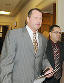 Washington, DC - February 12, 2008 -- Former New York Yankee pitcher Roger Clemens departs the office of United States Representative Dennis Kuchinch (Democrat of Ohio) as he makes the rounds of the United States House of Representatives to meet members of the Government Operations and Reform Committee concerning his alleged use of human growth hormone (HGH) in Washington, D.C. on Tuesday, February 12, 2008.  He is scheduled to testify before the committee on Wednesday, February 13, 2008..Credit: Ron Sachs / CNP.(RESTRICTION: NO New York or New Jersey Newspapers or newspapers within a 75 mile radius of New York City)