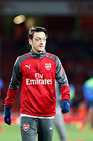 Mesut Ozil of Arsenal seen in the warm up during the Premier League match between Arsenal and Huddersfield Town at the Emirates Stadium, London, England on 29 November 2017. Photo by Carlton Myrie / PRiME Media Images.