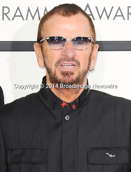 Pictured: Ringo Starr<br /> Mandatory Credit &copy; Adhemar Sburlati/Broadimage<br /> The Grammy Awards  2014 - Arrivals<br /> <br /> 1/26/14, Los Angeles, California, United States of America<br /> <br /> Broadimage Newswire<br /> Los Angeles 1+  (310) 301-1027<br /> New York      1+  (646) 827-9134<br /> sales@broadimage.com<br /> http://www.broadimage.com